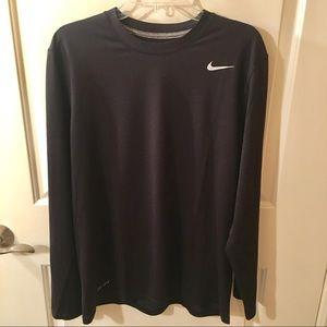 Nike Dri-Fit Long Sleeve Black T-Shirt Size L